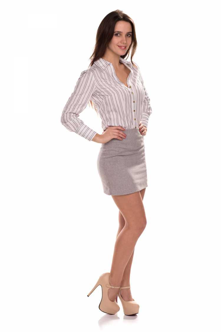 camisa Social Feminina com saia