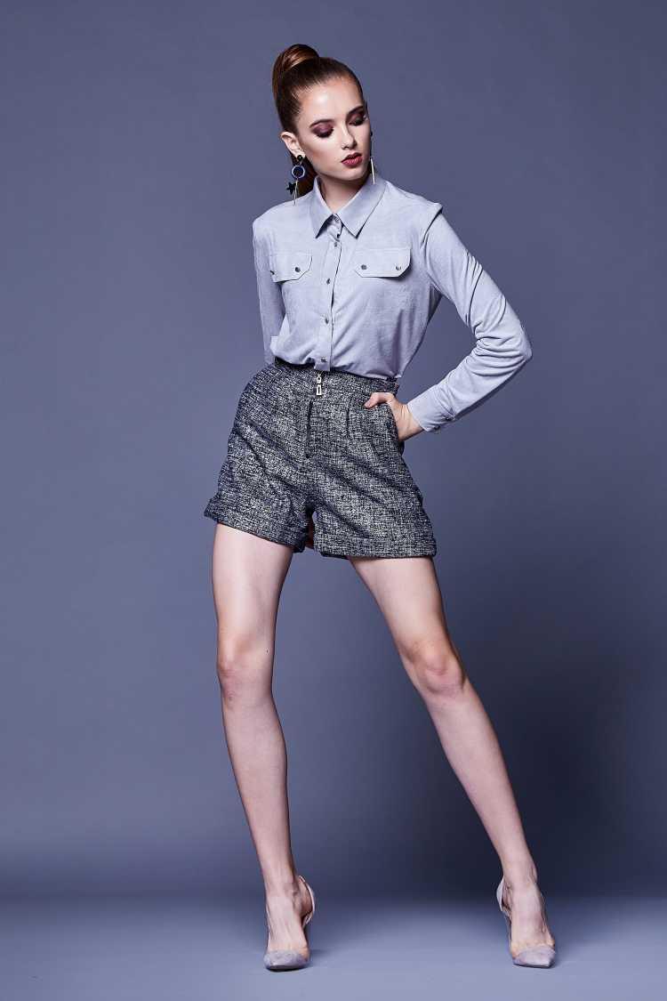 camisa Social Feminina com short