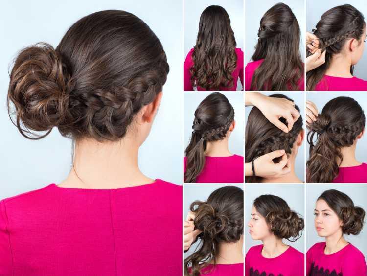 penteados presos para o carnaval coque tutorial