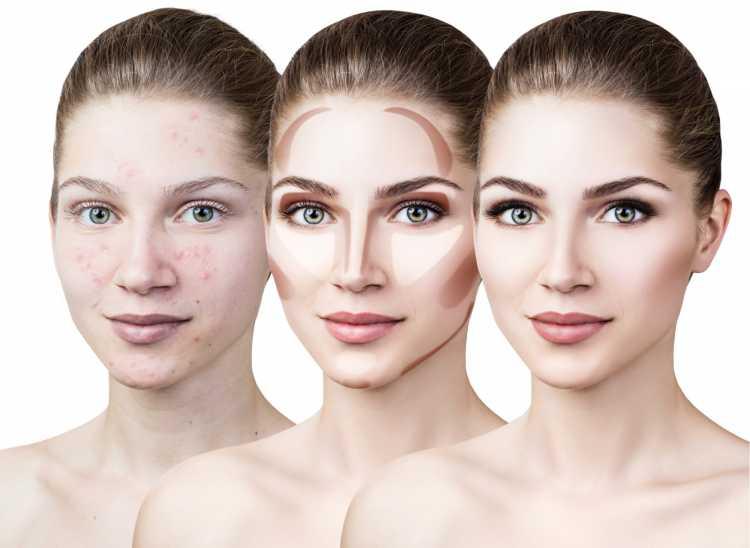 Maquiagem para sessão de fotos contorno