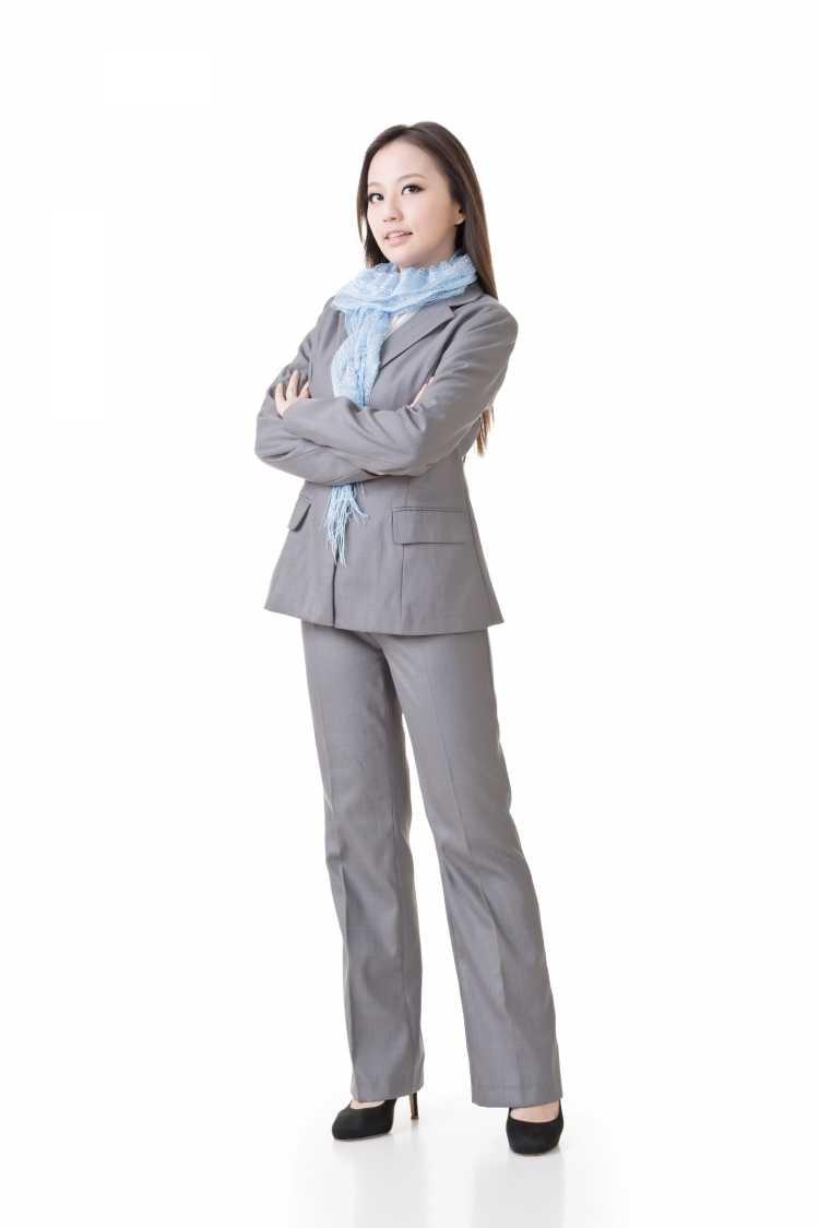 Terninho feminino formal cinza