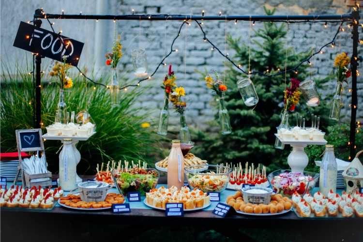 buffet ao ar livre