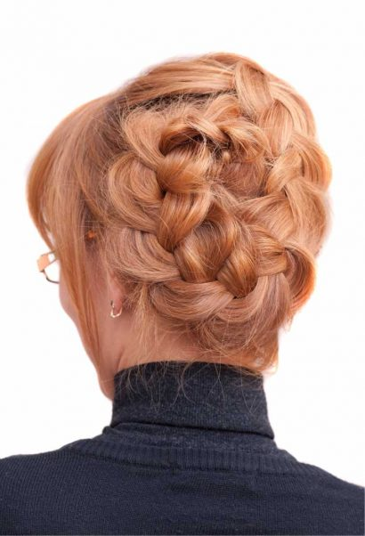 Penteados para mãe da noiva com trança vintage