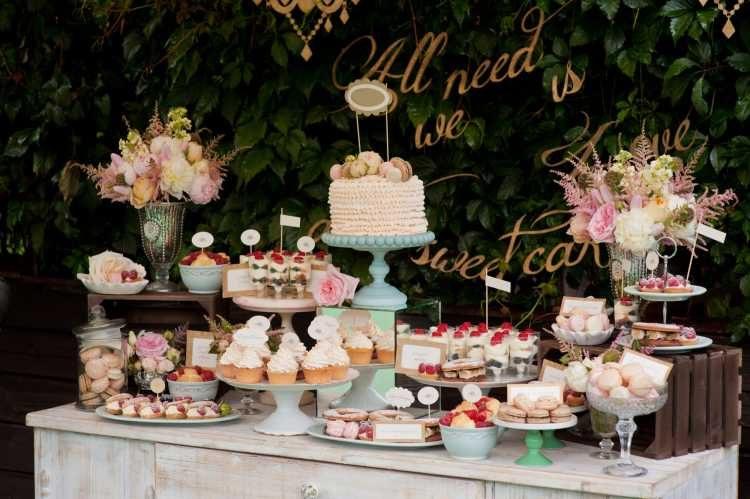 casamento em casa mesa de doces