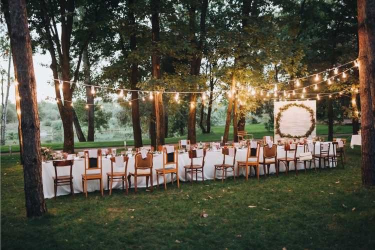 decoração simples para festa de casamento