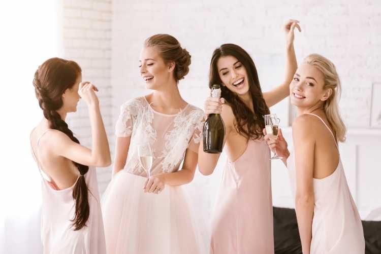 dia da noiva com as amigas