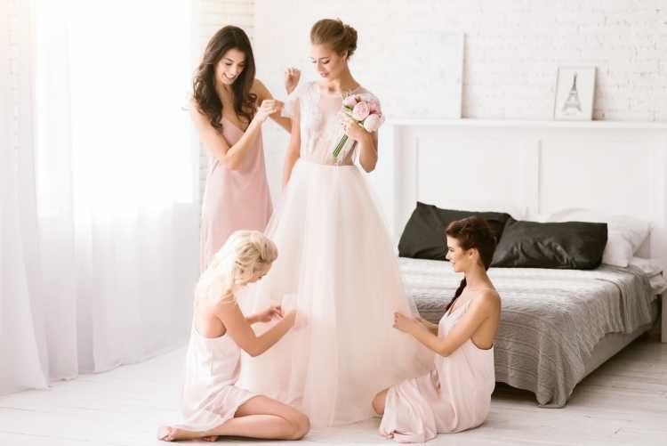 dia da noiva com as madrinhas