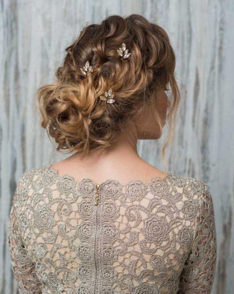 penteado com presilhas