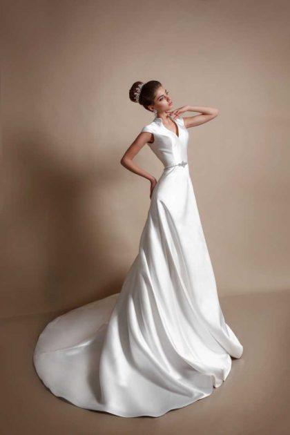 vestido de noiva maravilhoso em seda