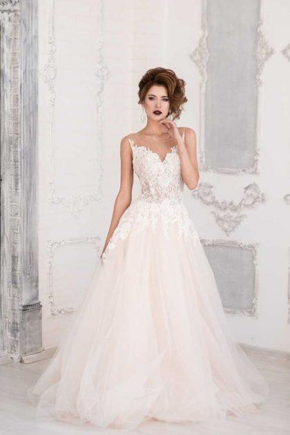 vestido de noiva perfeito em tule com cropped bordado