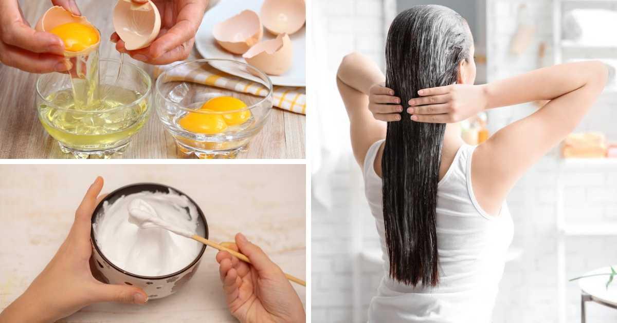 reconstrução caseira com clara de ovo