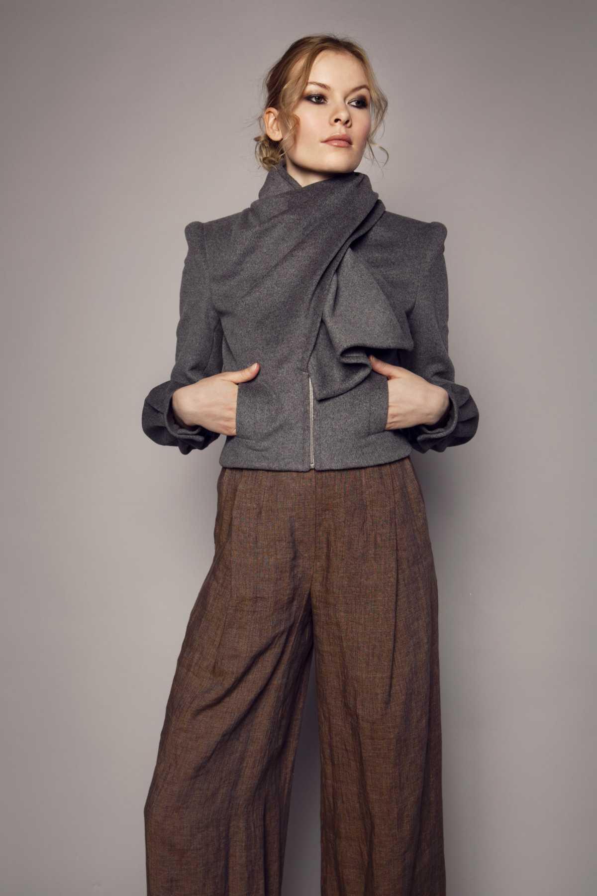 look com pantalona e blusa de frio