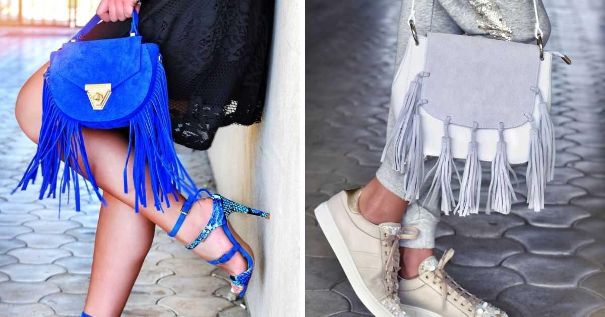 bolsas estilosas e coloridas com franjas