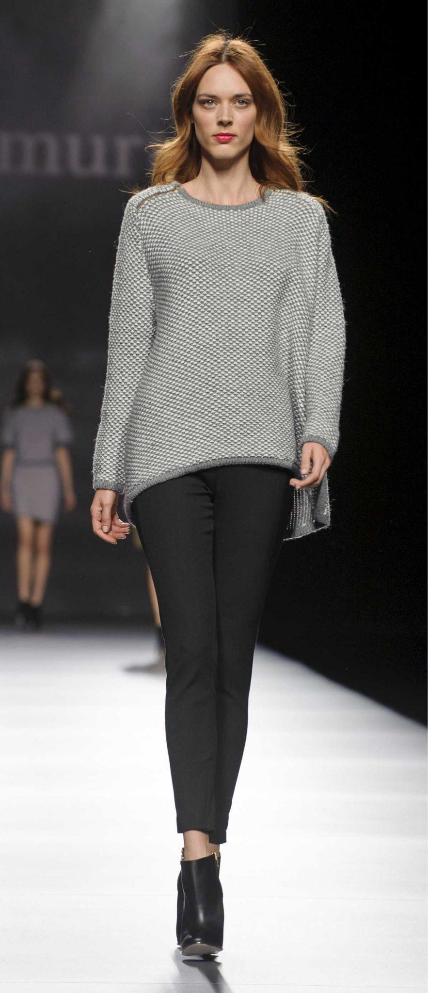 Look com suéter e calça skinny