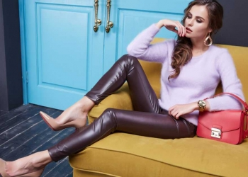 calça de couro é tendência neste inverno