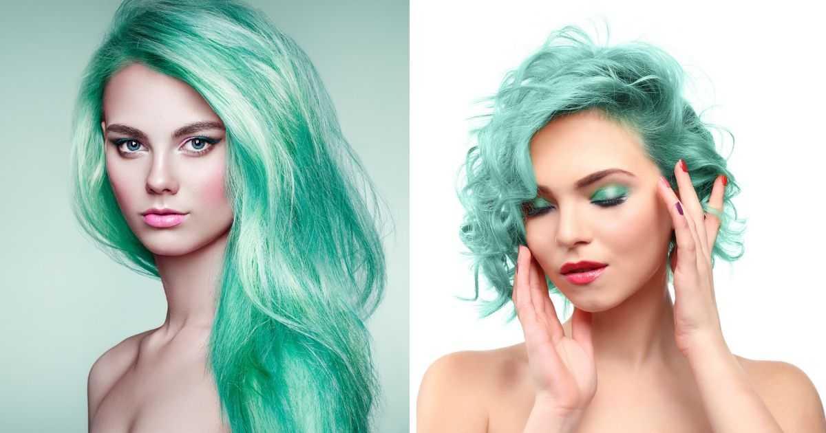 cabelo verde menta está na moda