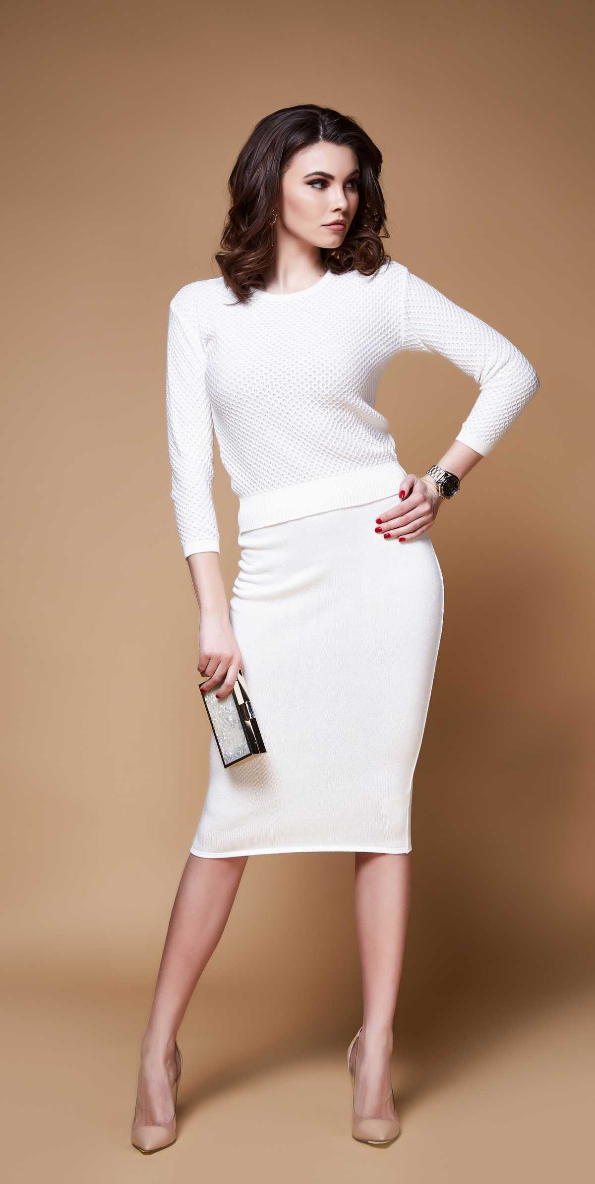 Vestido é uma das peças de tricô trend deste inverno