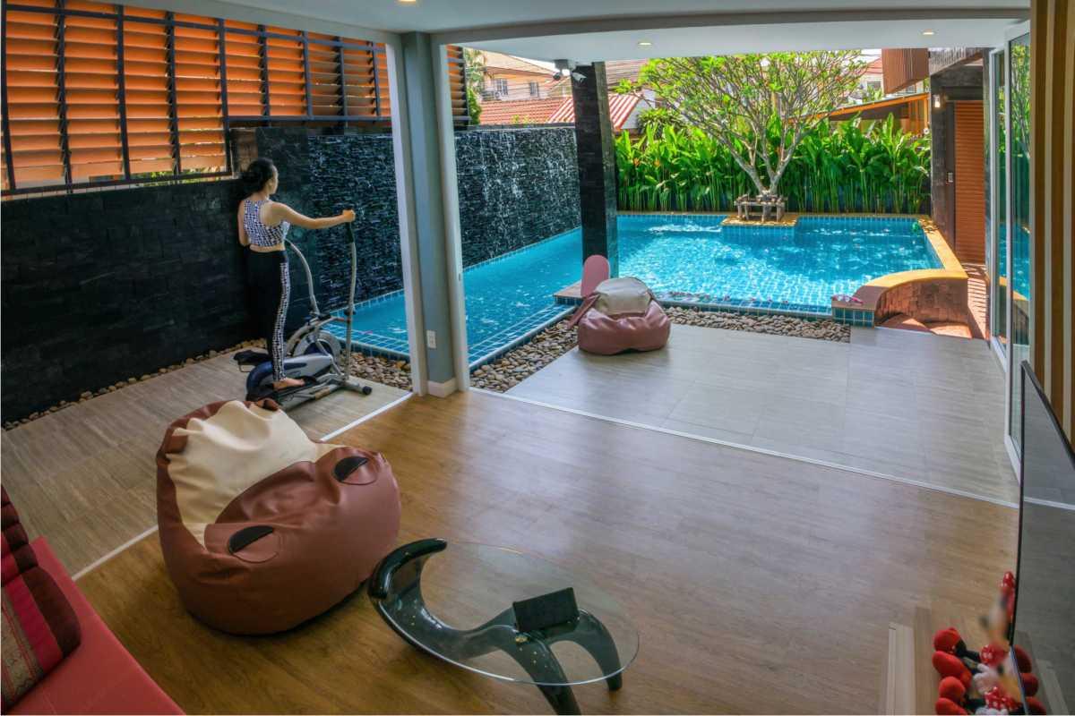 piscina integrada à casa