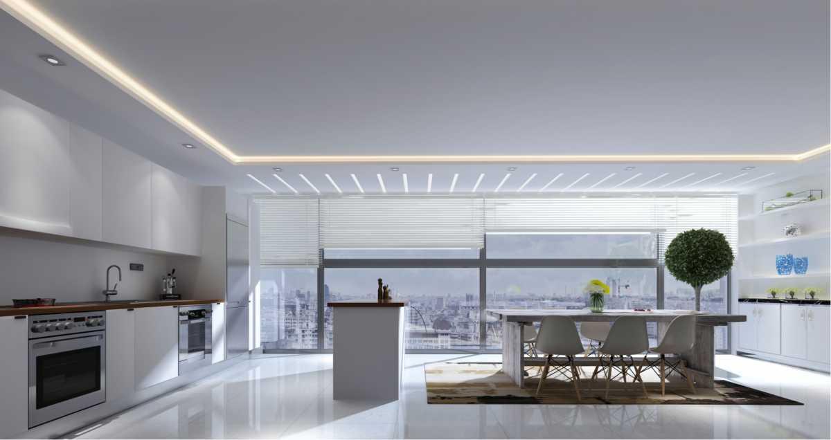 Cozinha com iluminação natural