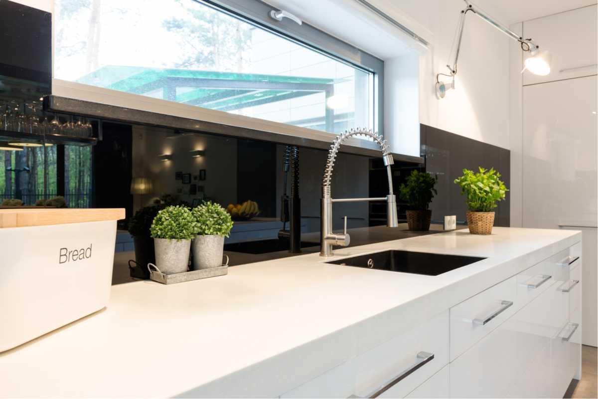 Design moderno para pia da cozinha