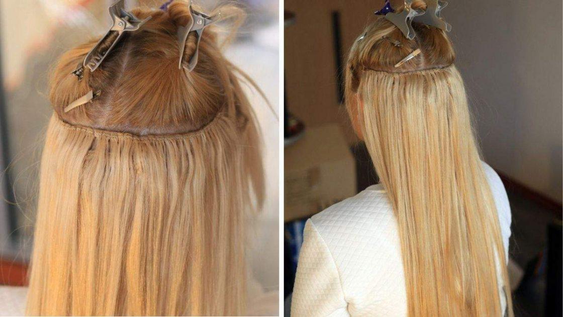 Mega hair de tela costurada