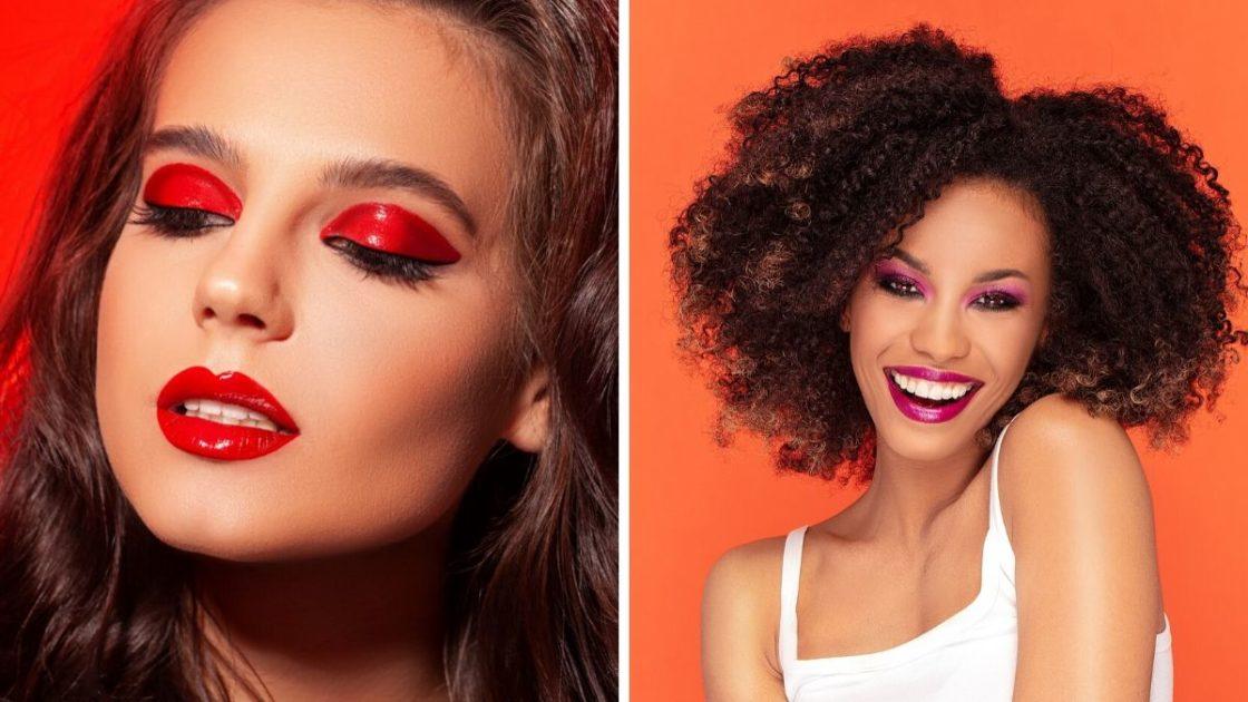 Maquiagem monocromática vermelha - [Fotos: shutterstock]