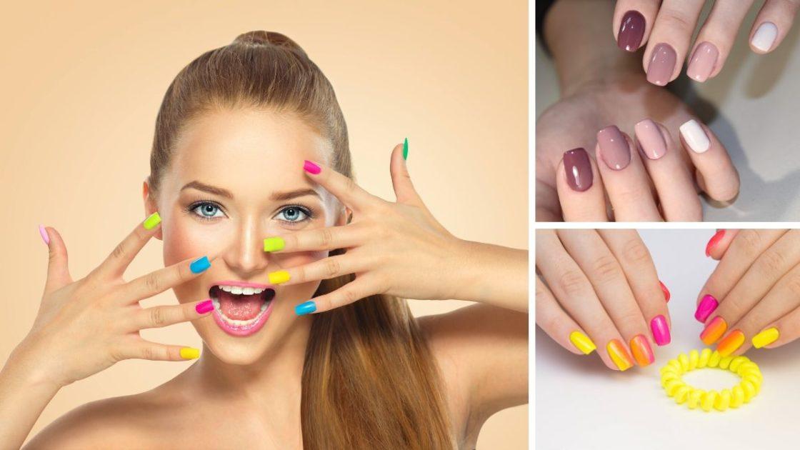 Unhas multicoloridas é uma das tendências de unhas decoradas 2020 - [Fotos: shutterstock]