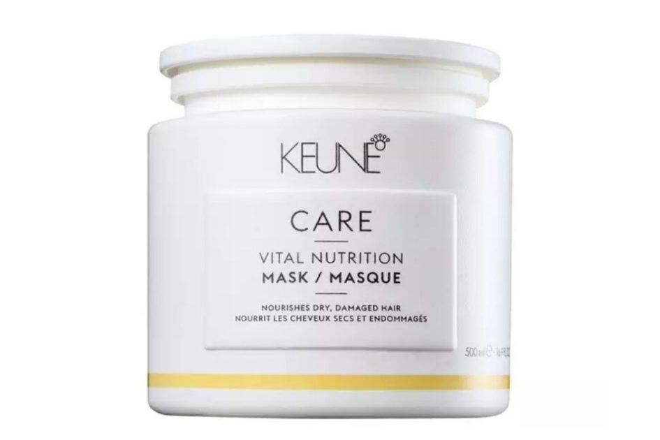 Máscara Care Vital Nutrition da Keune é um dos melhores produtos para cabelos loiros platinados