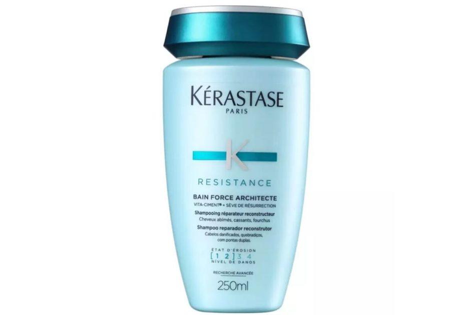 Shampoo Resistance Bain Force Architecte da Kérastase é um dos melhores produtos para cabelos loiros platinados