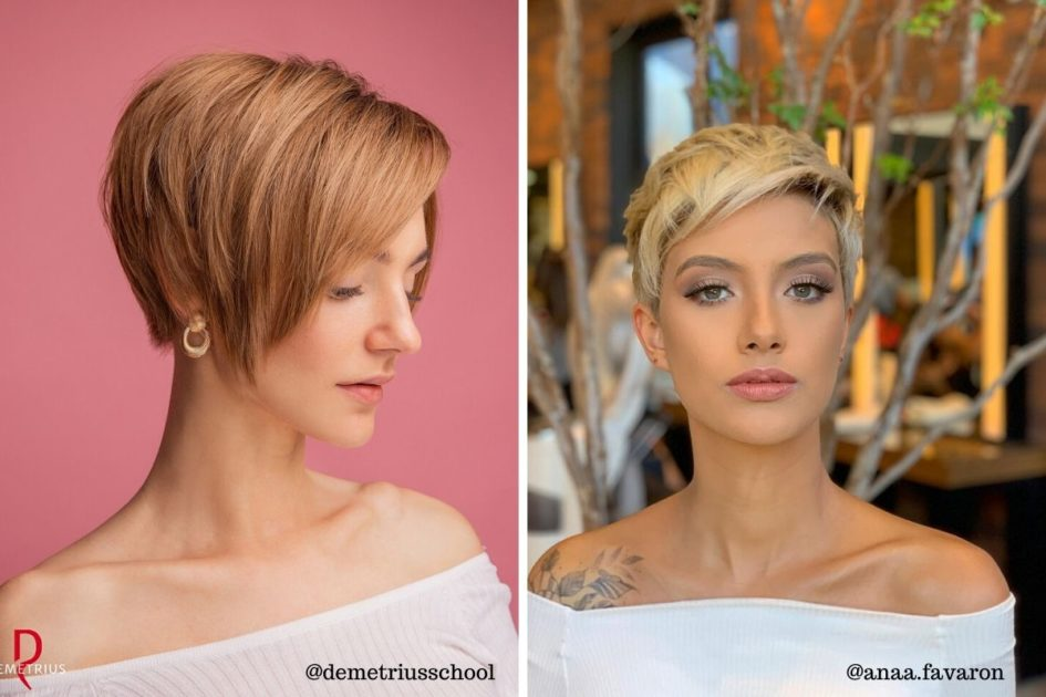 Fotos de mulheres com corte de cabelo pixie cut