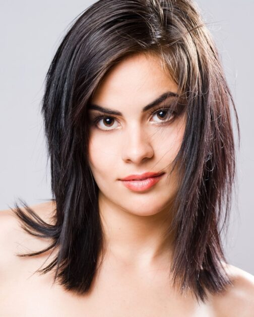 Corte shag hair em cabelo liso