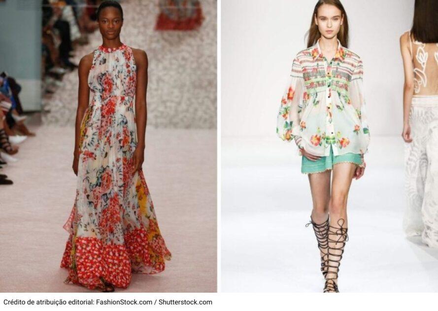 Estampa floral é uma das tendências da moda verão 2021