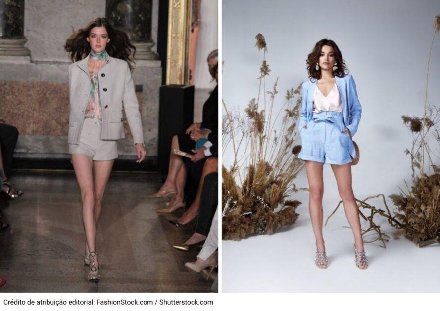 Conjuntinhos de terninhos com short está dentre as tendências da moda verão 2021