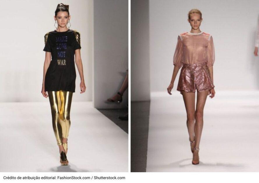 Looks com peças metalizadas estão entre as trends da moda verão 2021