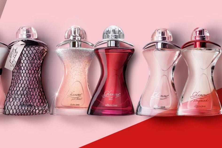 Linha de perfumes Glamour